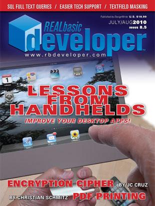 REALbasic Developer Magazine May June 2010 alverpry mini8.5large